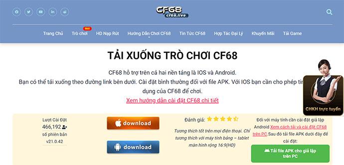Cf68.live nhà cái game bài uy tín hàng đầu châu Á