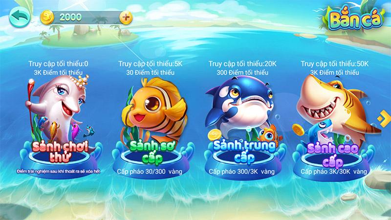 Lựa chọn sảnh chơi bắn cá online phù hợp với bản thân