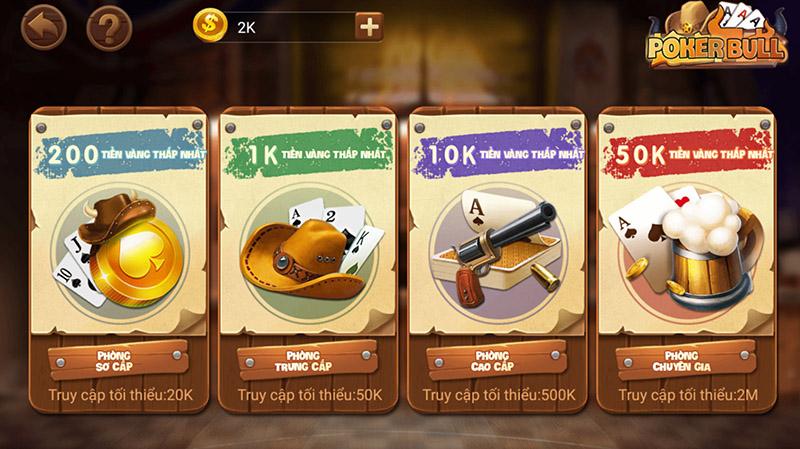 Lựa chọn phòng chơi Poker Bull phù hợp với bản thân